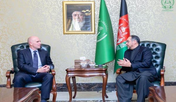 سفیر کانادا در کابل با رییس جمعیت اسلامی افغانستان دیدار کرد