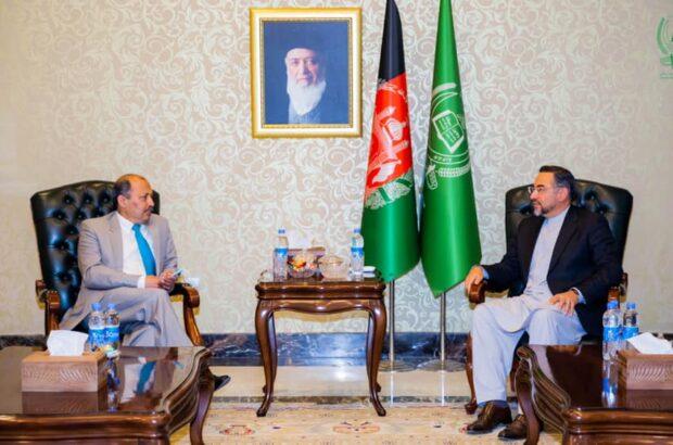 رییس جمعیت اسلامی با سفیر پاکستان در کابل دیدار کرد