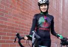 معصومه علیزاده مهاجر برنده مقام آخر بایسکلسواری رقابتهای المپیک شد