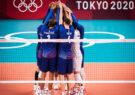 تیم ملی والیبال فرانسه در فینال مسابقات والیبال بازیهای المپیک، با شکست روسیه قهرمان شد