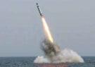 آزمایش موشک جدید دریا به زمین ازطرف کره شمالی