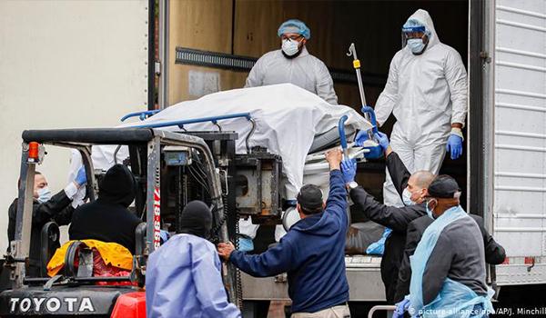افزایش آمار تلفات بیماری کووید۱۹ در امریکا
