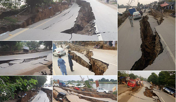 زمینلرزهی درایالت بلوچستان پاکستان جان ۲۰ تن را گرفت